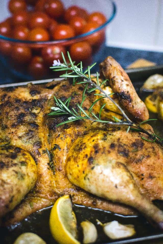 Oven Roasted Lemon-Rosemary Chicken