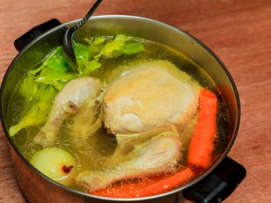boiling chicken