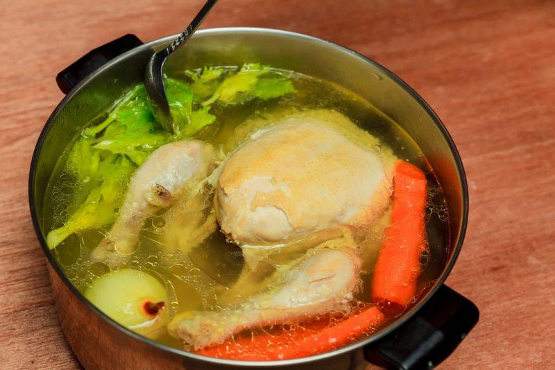 boiling chicken