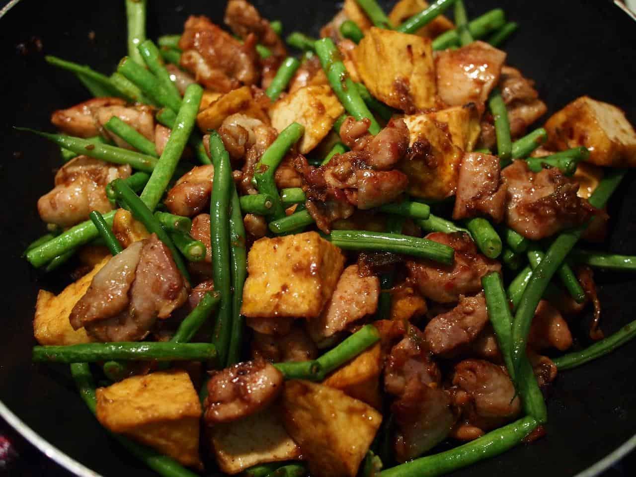 Marinated tofu