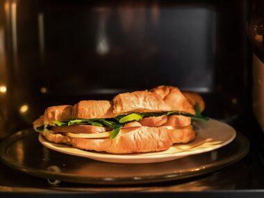 Sandwich in oven