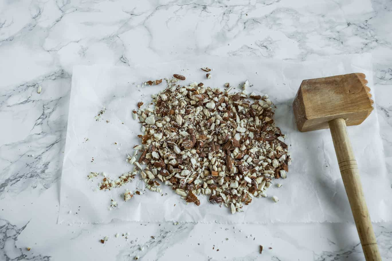 crushed almonds